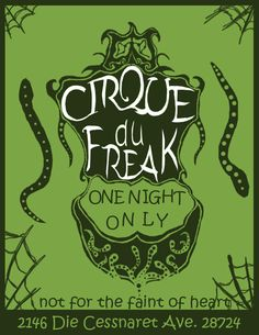 Cirque Du Freak Manga | Cirque Du Freak Flyer by *Golden-Deviant on deviantART