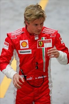 I didn't always love Formula One, though I don't remember ever *not* liking it. But I never had a favourite driver until Kimi entered the scene. Something about his grumpiness (and his Finnishness) turns me on and I'm always happiest at the end of a Grand Prix if Kimi is on the podium, because he seems to not really give much of a shit about the adulation and just wants to get on with the ritual drinking of Champagne. Respect.
