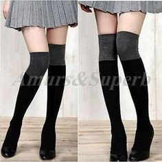 FASHION Women Cotton Over The Knee Thigh Stockings High Socks Pantyhose Tights in Clothing, Shoes & Accessories | eBay