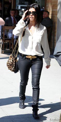 Kourtney kardashian wearing donna karan stretch jersey for Where do the kardashians shop for furniture