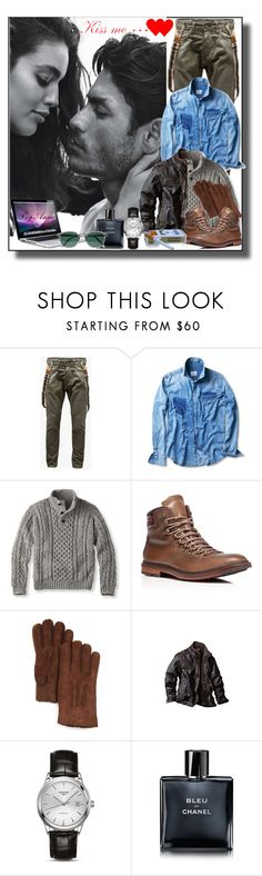 """Kiss Me...."" by anne-977 ❤ liked on Polyvore featuring Jack & Jones, MANGO MAN, Cole Haan, UGG Australia, Longines, Chanel, Cutler and Gross, women's clothing, women and female"