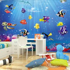 Underwater World Wallpaper With Sandcastle Stock Photos Image
