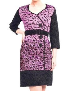 Niza Two-Tone Printed Dress - Dresses - Apparel at Viomart.com