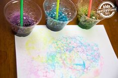 Blowing Bubbles to Make Art