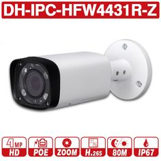 DH with logo IPC-HFW4431R-Z 4MP Night Camera 80m IR 2.7~12mm VF lens Motorize Zoom Auto Focus Bullet IP Camera CCTV Security POE Sale Only For US $75.99 on the link Bullet Camera, Ip Camera, Focus Images, Mac Os, Sd Card, Smartphone, Lens, Night, Garden