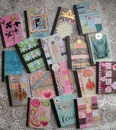 Altered Composition Books | Altered mini-composition books | Flickr - Photo Sharing!