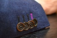 Useable (Surgeon's) buttons are a MUST on a bespoke suit.