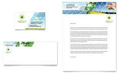 Nursing School Hospital Business Card  Letterhead Template