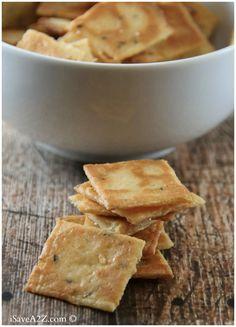 Keto Snacks - Low Carb Cheese Crackers Recipe (Keto Friendly)