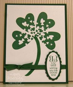 Unusual use of hearts.........great St. Patrick's Day card!!