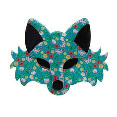 Brida the Botanical (Erstwilder Teal Resin Fox Brooch) - Glitterally.co.uk