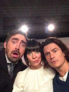 #Elfie Lee Pace, Evangeline Lilly and Orlando Bloom getting silly in London at The Hobbit World Premiere, Dec. 1, 2014.