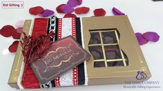 Spread Happiness this Eid with a luxury box of Chocolates :) Chocolate Box, Eid, Chocolates, How To Memorize Things, Happiness, Gift Wrapping, Luxury, Happy, Gifts
