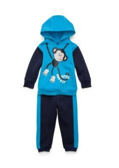 Nannette  2-Piece Monkey Hoodie and Jogger Pants Set