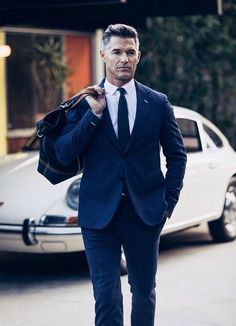 Men's Fashion tips. Dress with dapper and wear the proper attire with our men's style guide. Find male grooming advice, the best menswear and helpful tips. Mens Style Guide, Men Style Tips, Sharp Dressed Man, Well Dressed Men, Eric Rutherford, Mens Fashion Blog, Men's Fashion, Mature Fashion, Fashion Suits
