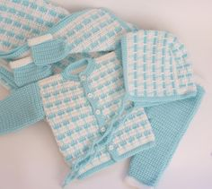 5pcs Crocheted Newborn Baby Set pattern on Craftsy.com