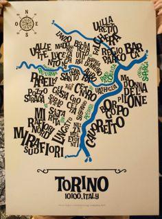 Una simpatica rappresentazione dei quartieri di #Torino! #MITO per la Città propone #concerti gratuiti in tutto il territorio cittadino. Ecco le sedi dei concerti: http://www.mitoperlacitta.it/?page_id=12