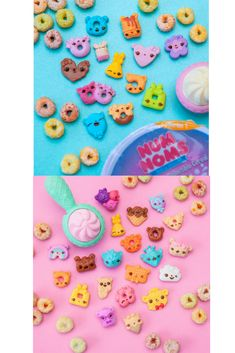 """Celebrate your little one's love for Num Noms with a Num Noms themed birthday party! Num Noms Snackables Cereal make the perfect party favor! Discover which 12 adorable cereal Num Noms and flavored magic """"milk"""" spoon you get-every bowl is a surprise! Puppy Wallpaper Iphone, Toys For Girls, Kids Toys, Diy For Kids, Gifts For Kids, Num Noms Toys, Barbie Pink Passport, Shopkins Happy Places, Little Mermaid Dresses"""