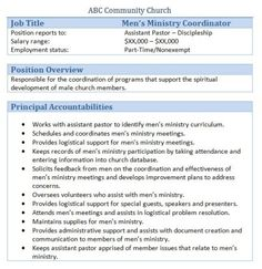 Church Office Volunteer Job Description  Church Managment