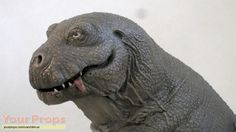 Stop motion T-Rex puppet from 'Caveman' (1981). Cool retro design!
