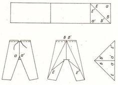 tipar pantaloni traditionali romanesti pentru barbat, baiat, copil Line Chart, Manual, Traditional, Textbook