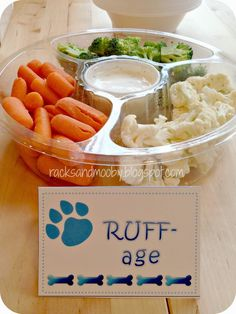Clever healthy snack idea for a PAW Patrol or puppy party!