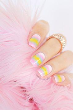 Pastel Candy Nails Design #nails #NailArt #NailDesigns
