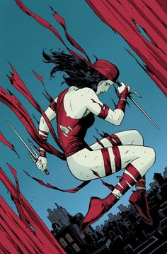 Elektra #1 Cover by Paolo Rivera  Published by Marvel