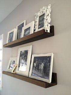 DIY Wood Shelves.