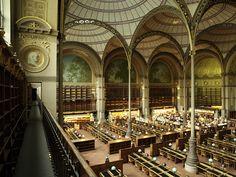 The Richelieu building, Bibliothèque Nationale de France, Paris.