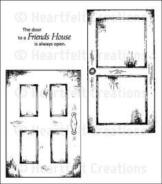 Heartfelt Creations   Vintage Doors PreCut Set