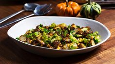Roasted Sunchokes with Brussels Sprout Leaves