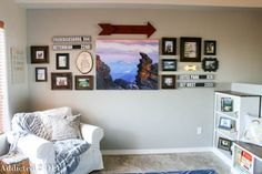 Travel Gallery Wall https://addicted2diy.com/2015/06/29/create-a-travel-inspired-gallery-wall/
