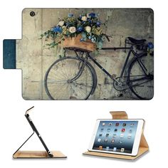 Amazon.com: Antique Bicycles Flower Basket View Apple Ipad Mini Flip Case Stand Smart Magnetic Cover Open Ports Customized Made to Order Support Ready Premium Deluxe Pu Leather 8 Inch (205mm) X 5 1/2 Inch (140mm) X 11/16 Inch (17mm) MSD Ipad Mini Professional Ipadmini Cases Ipad_mini Accessories Graphic Background Covers Designed Model Folio Sleeve HD Template Designed Wallpaper Photo Jacket Wifi 16gb 32gb 64gb Luxury Protector: Computers & Accessories