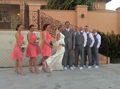 Kira and Rob Newkirk and their lovely wedding party at one of our beautiful villas on Vieques!