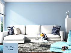 Huzur ve sakinliğin temsilcisi mavi ile nötr bir ortam oluşturan grinin mükemmel uyumu! Filli Boya Gri Mavi ile evinizde modern dokunuşların tam zamanı.