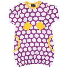 Polkadot Purple Dress by Maxomorra