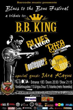Blues To The Bone Festival (B.B. King tribute): Σάββατο 2 Ιανουαρίου @ Methodia Live Stage
