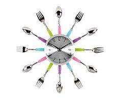 Reloj de pared de metal Spoon - multicolor