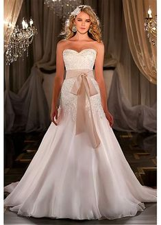 A-line Sweetheart Neckline Wedding Dress with out the bow and I would love it!!!
