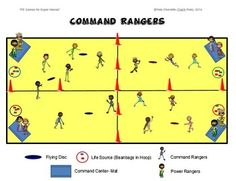 "PE GAMES FOR SUPERHEROES!- ""COMMAND RANGERS"" - TeachersPayTeachers.com"