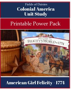 Colonial America Printables for American Girl Felicity Unit Study- Study Colonial American History the fun way! Complete daily plans, hands-on projects, gam Study History, History Education, Teaching History, History Books, Women's History, History Photos, British History, History Facts, American History Lessons