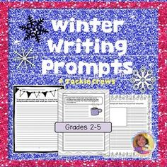 "This product has 30 writing prompts designed especially for January, February, and early March that can be used for early morning work, homework, literacy centers, or journal prompts. It's great to have these ""go-to"" pages because they work so well for short time-fillers and are especially nice to have on hand for substitutes."