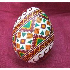 Very beautiful PYSANKA handpainted blown Ukrainian real Easter EGG