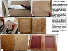 "Could also make without the wax for a cell phone cover Medieval Arts & Crafts: A medieval waxed tablet -- your children or students may enjoy making their very own wax tablets to bring their imaginations to life as they listen to ""Men of Iron"" read by Jim Weiss"