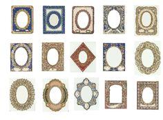 Vintage frame labels