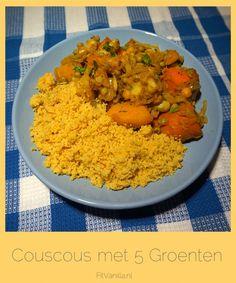 Marokaans geinspireerd gerecht.... Couscous met 5 Groenten! #diner #cleaneating #vegan #vegetarian // FitVanilla