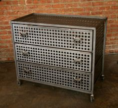 Hudson Goods Blog: Vintage Industrial Furniture » industrial metal bin cabinets
