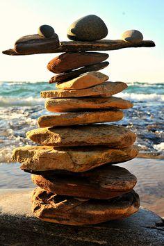 Good balance is often taken for granted.Good balance is often taken for granted. Rock And Pebbles, Rocks And Gems, Stone Balancing, Stone Cairns, Balanced Rock, Rock Sculpture, Stone Sculptures, Outdoor Art, Pebble Art