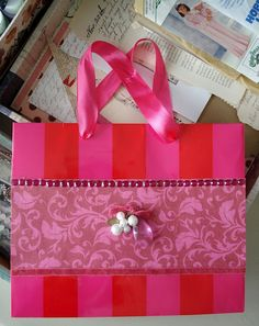 Neat tutorial to reuse shopping bags - (hint) this was a Victoria's Secret bag originally!